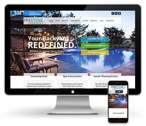 Websites for pool builders thrive web designs of idaho for Pool design website